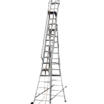 ALUMINIUM SELF SUPPORTING WHEELED EXTENSION LADDER nm-04